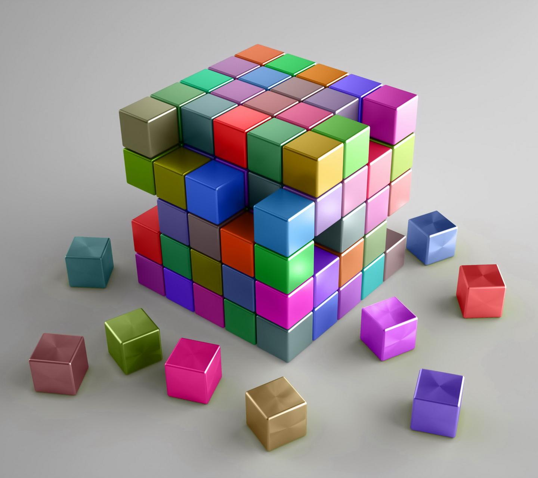 Обои на рабочий стол - 3D Куб