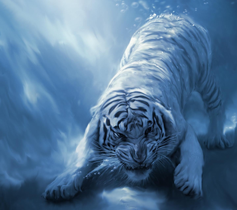 Обои - Белый тигр