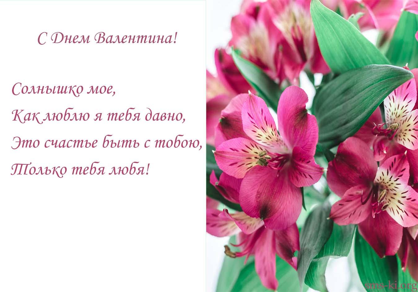 Открытка - Солнышко с днем Валентина