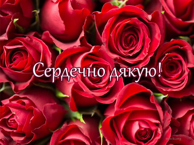 Листівка - Дякую - листівка з трояндами