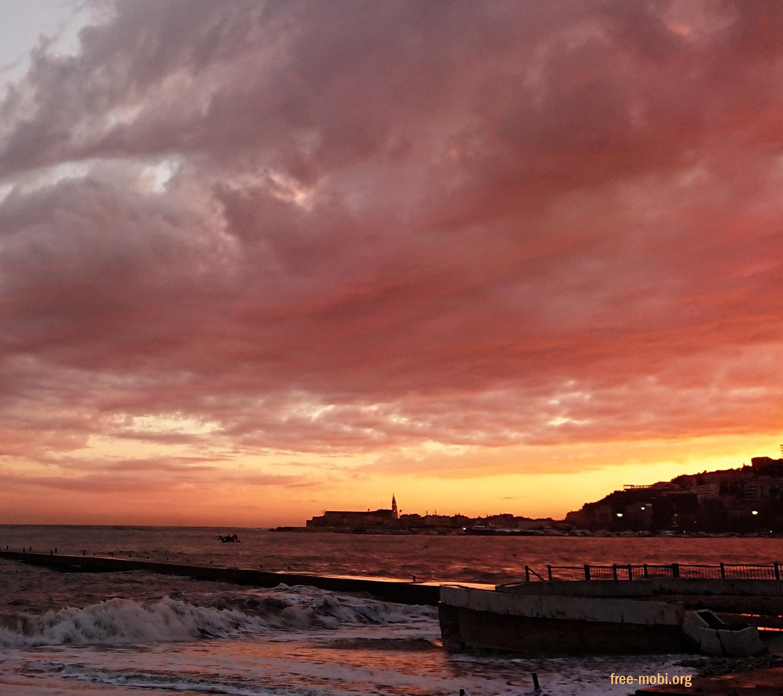 Обої - Захід сонця на березі моря