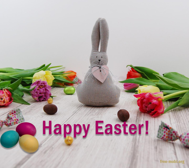 Обои - Пасхальные яйца и цветы