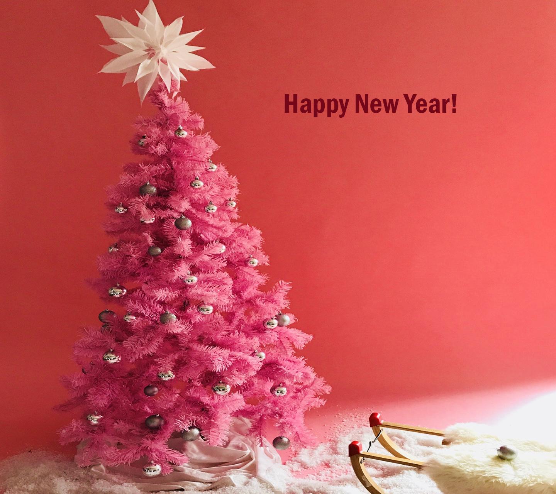 Обои - Новогодняя звездочка розовый фон