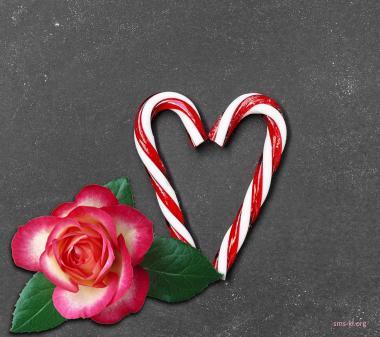 Троянда і сердечко з цукерок mini