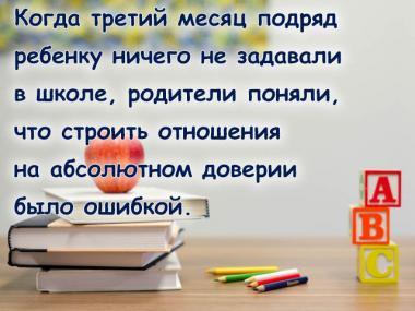 Открытка Про уроки
