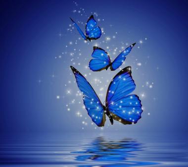 Голубые бабочки mini